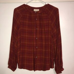 Fall button up top